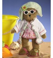 "Boyds 12吋限量版泳裝泰迪熊女郎 ""Sandy Summerbeary"""