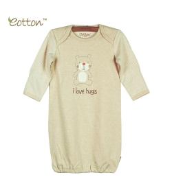Eotton 100%有機棉小熊嬰兒長袍
