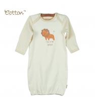 Eotton 100%有機棉獅子嬰兒長袍