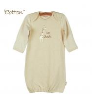 Eotton 100%有機棉長頸鹿嬰兒長袍