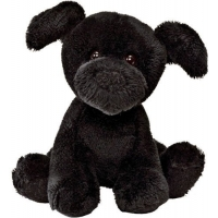 "Gund Animal Chatter Dog Black 4"" plush stuffed toy"