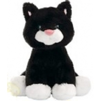"Gund Animal Chatter Cat Black 4"" plush stuffed toy"