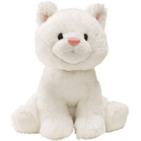 Gund Animal Chatter Cat White 4""