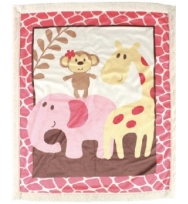 Luvable Friends Sherpa Baby  Blanket Pink