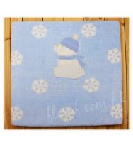 Mayoral  超級柔軟及溫暖的繡北極熊藍色珊瑚绒嬰兒氈