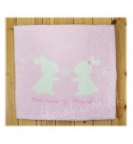 "Mayoral  超級柔軟及溫暖的 ""Sweet Dreams""小兔圖案粉色珊瑚绒嬰兒毯"