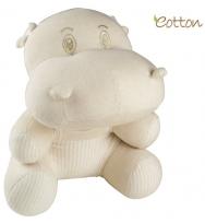 Eotton 100%有機棉可愛河馬玩具