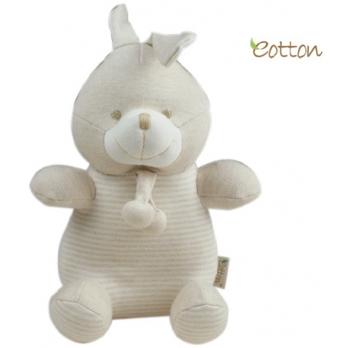 eotton 100%有机棉可爱小免玩具